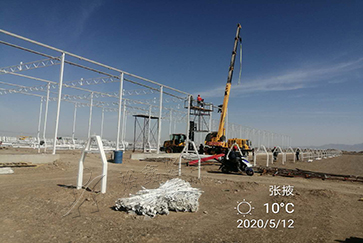 Yuxin 200,000 square meters Zhangye second phase tomato glass greenhouse